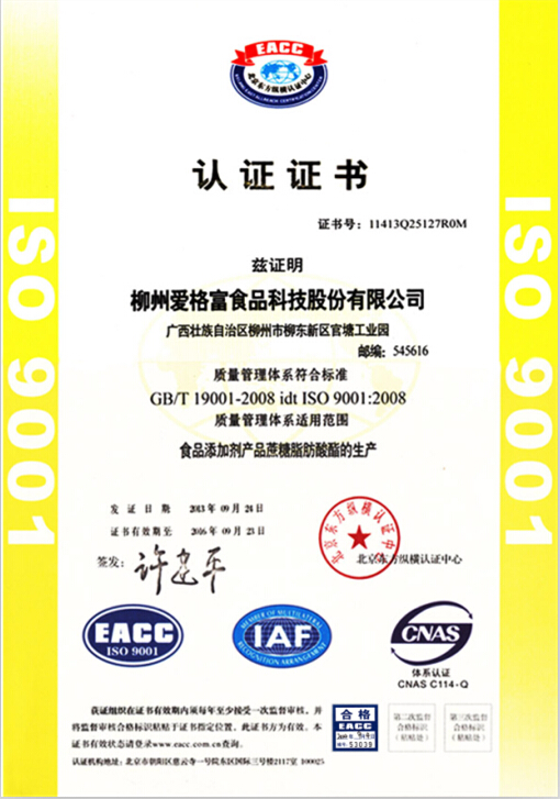 ISO9001正本